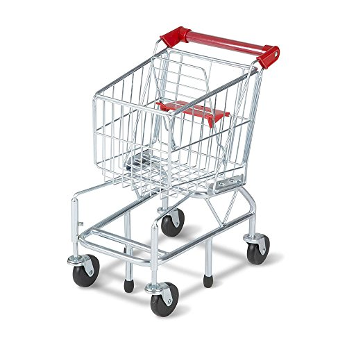 "Melissa & Doug Toy Shopping Cart with Sturdy Metal Frame, Play Sets & Kitchens, Heavy-Gauge Steel Construction, 23.25"" H x 11.75"" W x 15"" L from Melissa & Doug"