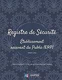 Registre de Sécurité ERP: v4-8 Format large   Établissement recevant du Public   Conforme à l'article R123-51 du Code de la Construction et de l'Habitation   fond bleu avec motif (French Edition)