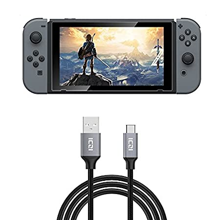Nintendo Switch Cable, ICZI USB 2.0 Type A to Type C (USB to USB-C) Charging Cable for Nintendo Switch (10 Feet, Braided)