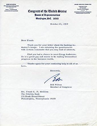 Amazon Com Robert Carlton Bob Wilson Typed Letter Signed 10 21