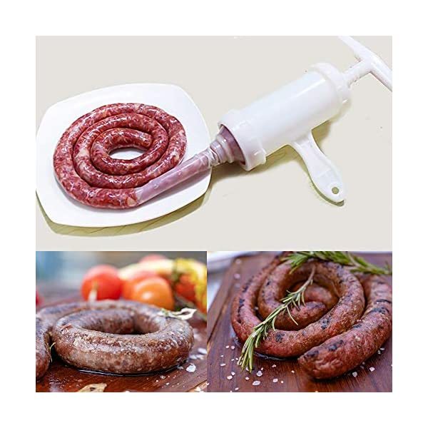 Insaccatrice per Salsiccia Manuale Riempitrice per Salsicce con Imbuto Spesso e Sottile Pressa per Salsicce per Salsicce… 4