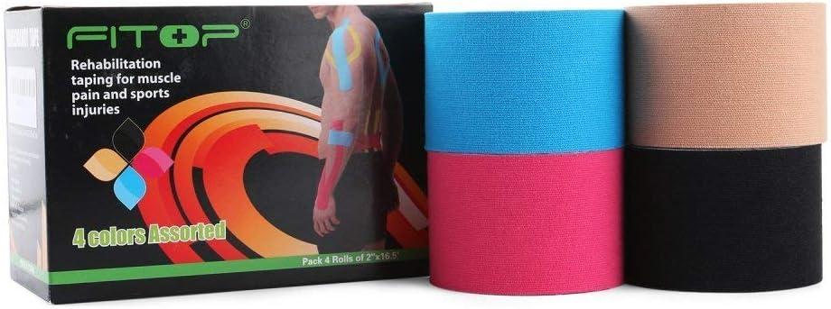 Amazon.com: fitop algodón 4 rollos de cinta para ...