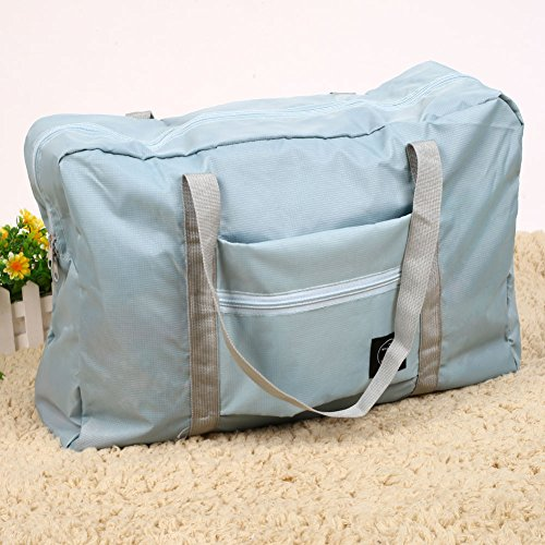 Luggage Kiicn Organizer Bag Hand Duffle Blue Storage Foldable Carry Travel Nylon Shoulder Light wwRqtOAx