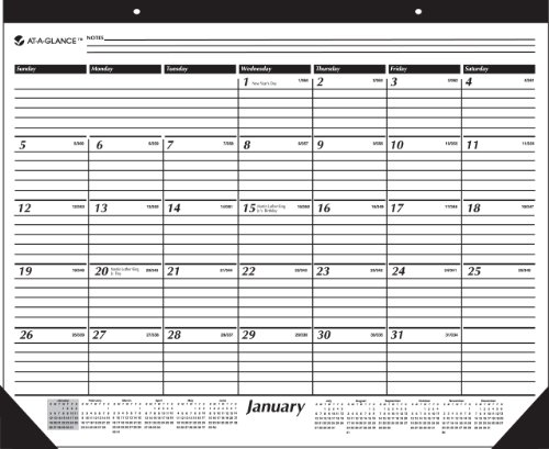 AT-A-GLANCE Academic Year 16 Month Desk Pad, September 2010 - December 2011 (SK2416) 2010 Monthly Desk Pad