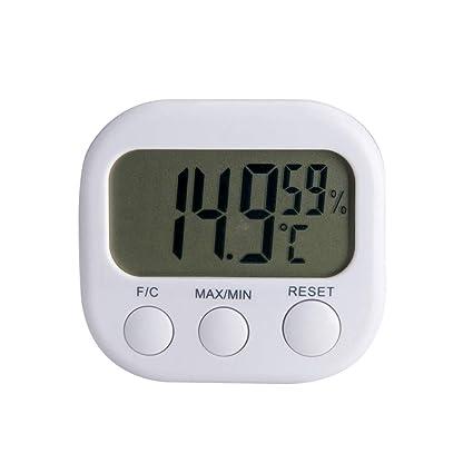 Vosarea Termómetro Digital higrómetro medidor de Temperatura para Uso en el hogar