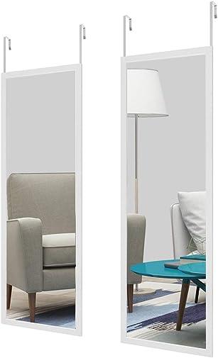 Full Length Door Mirror Set of 2,48 16″ Door Mirror/Wall Mirror Float Tile Dressing Mirror