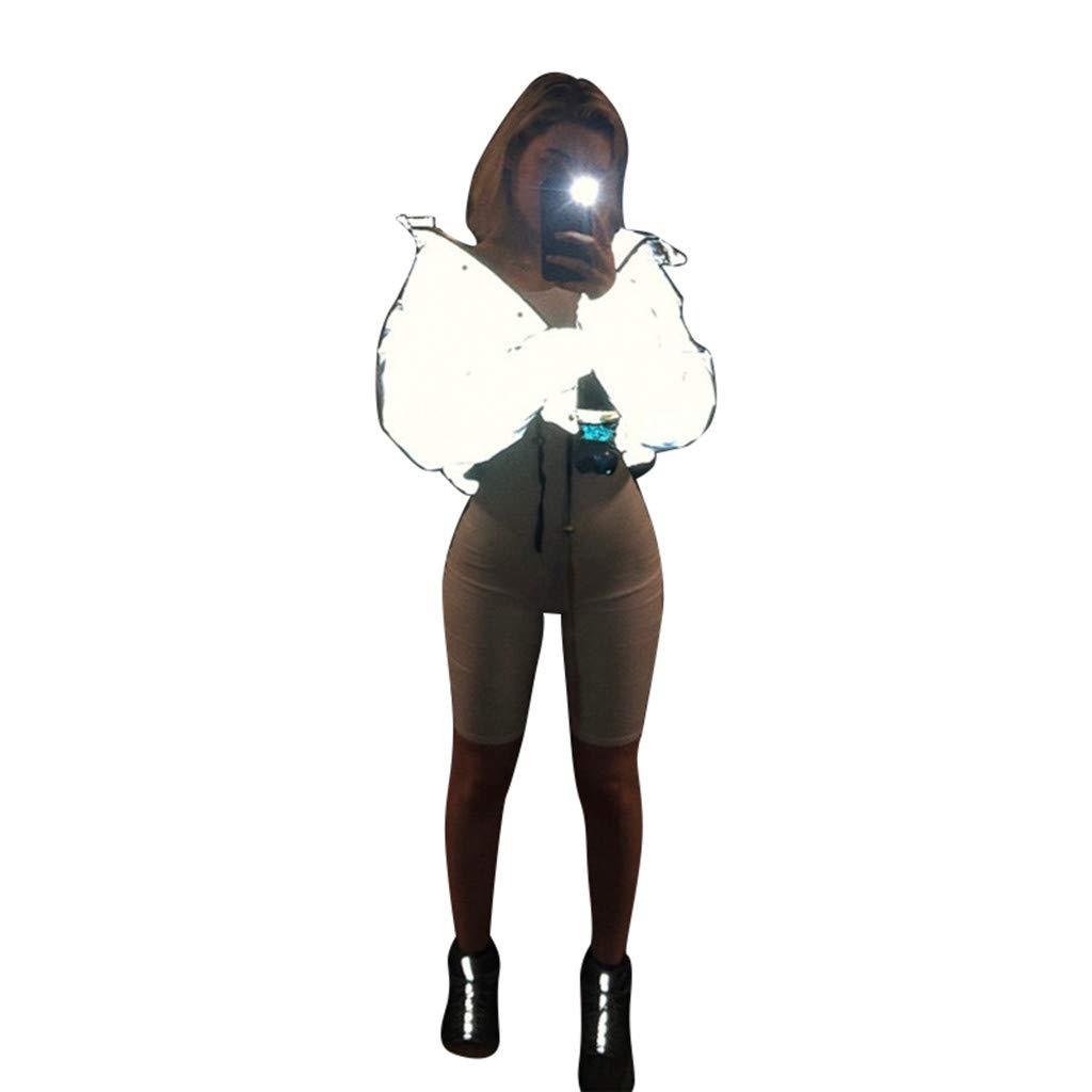 Tops para Mujeres Reino Unido Clearance tama/ño oto/ño Invierno Blusa Moent Ventas Plus Invierno Moda Reflectante Short Mantener c/álidas Mujeres Casual Abrigo Top Chaquetas