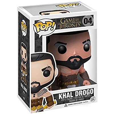 Funko Pop! Game of Thrones: GOT - Khal Drogo #04 Vinyl Figure (Includes Compatible Pop Box Protector Case): Toys & Games
