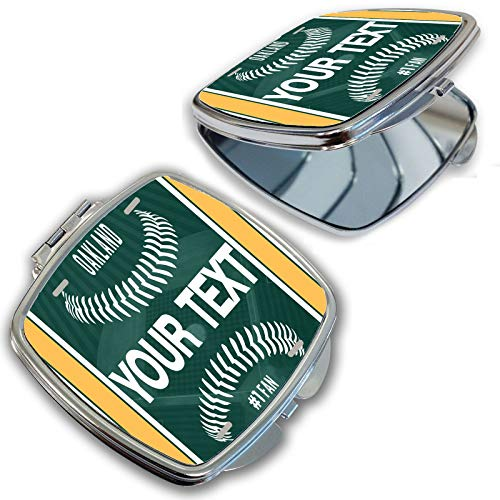 BRGiftShop Customize Your Own Baseball Team Oakland Compact Pocket Cosmetic Mirror