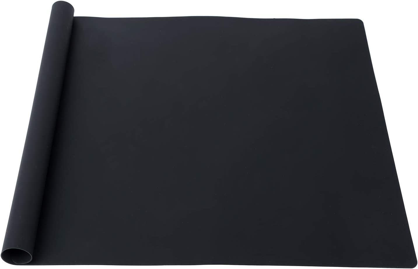 KimTin Extra Large Multipurpose Silicone Nonstick Pastry Mat, Countertop Protector Clay Mat No-slip Non Stick,Heat Resistant Table Mat, 23.6''15.75'' (Black)