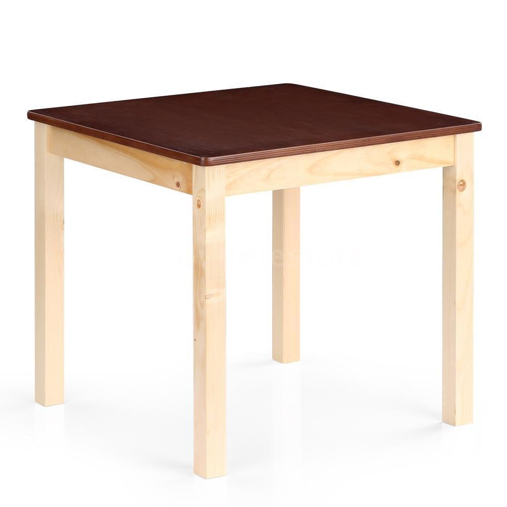 New Table Wooden Natural Pine Wood Colorful Activity Kids Play Home School Durable Color Espresso Size 28x26x55 Cm