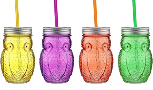 plastic colored jars - 5