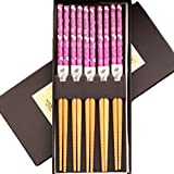 LUNA 5 Pairs Japanese Style Restaurant Wooden Chopsticks Sushi Tableware (A17)