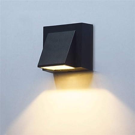 NKUFOS Iluminación de Pared Aplique de Pared Exterior Negro Ip55 Arriba Abajo Pasillo Jardín Pasillo Lámpara de pared-3W: Amazon.es: Hogar