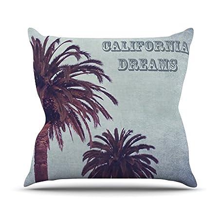 Kess InHouse Ann Barnes California Dreams Throw Pillow Blue Brown 20 by 20