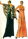 Butterick 6357 Misses' Formal Dress and Capelet Sewing Pattern Vintage, Formal Gown, Prom, Cocktail Party