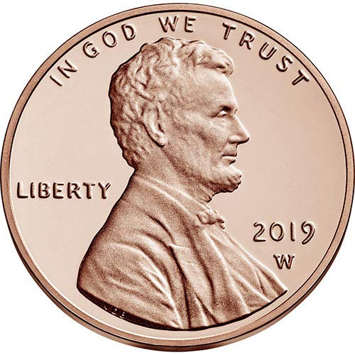 2019 W Reverse Proof Lincoln Shield Cent Choice Uncirculated US Mint