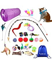 Koolbunjil 30PCS Unique Cat Toys Set for Indoor Cats Assorted Collection for Interactive Play