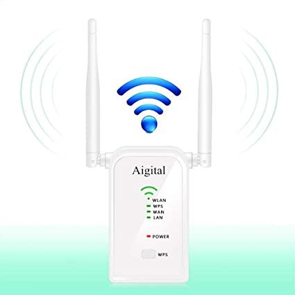 Aigital WiFi Router Long Range Extender 300M Wi-Fi Signal Booster Wireless  Hotspot Access Point AP Repeater Mode Dual External Antennas Comply with