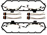 Michigan Motorsports 1994-1997 Diesel 7.3 Powerstroke Valve Cover Gasket with Injector Glow Plug Harness Fits Ford 7.3 F250 F350 Econoline Superduty
