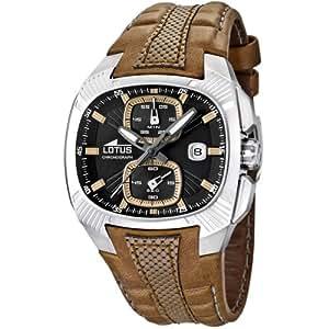 Lotus 15753/3 - Reloj analógico de cuarzo para hombre con correa de piel, color marrón