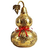 YUNHAO Pure Copper Gourd Ornaments Home Decorations Display Living Room Office Crafts Porch Lucky Ornaments A (Color : 42cm)
