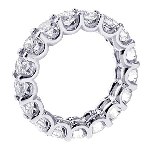 (VIP Jewelry Art 4.00 CT TW Shared Prong Diamond Anniversary Eternity Band in Platinum - Size 12)