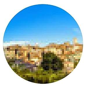 alfombrilla de ratón Siena, Toscana, Italia - ronda - 20cm