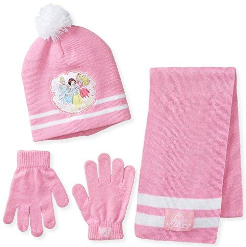 5b1dda33e Berkshire Big Girls' 3 Piece Disney Princess Snow White Aurora Cinderella  Pom Beanie Glove and Scarf Set, Multi, One Size - Buy Online in Oman.