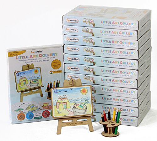 Buy Funvention For Little Scientist In Every Kid Medium Density Fibreboard Puzzle And Colouring Art Kit With Stem Educational Toys