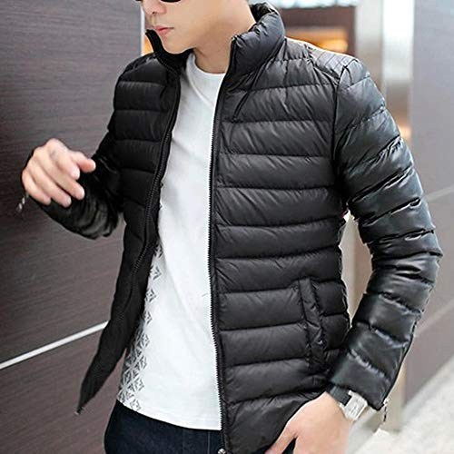 Allywit Men Fashion Stand Collar Zipper Warm Cotton Winter Thick Coat Jacket by Allywit (Image #1)