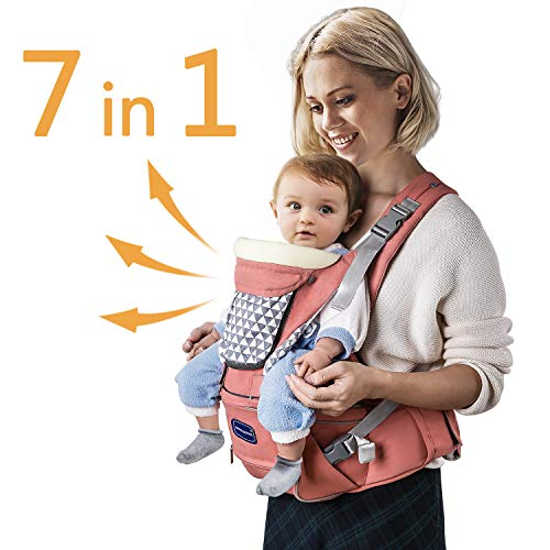 Windsleeping Toddler Baby Carrier with Hood for All Seasons, Back Support,...