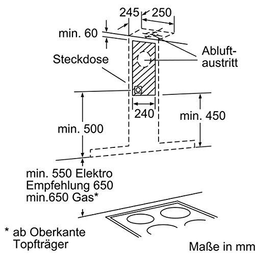 potencia de extracci/ón m/áxima 680 m3//h Campana extractora decorativa de pared Bosch DWB067A50 Serie I 4 color acero inoxidable 60 cm de ancho 4 potencias de extracci/ón