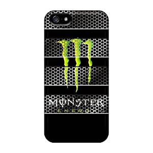 Scratch Protection Cell-phone Hard Cover For Iphone 5/5s With Unique Design HD Monster Pictures SherriFakhry