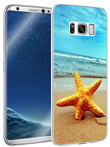 Case for S8 pattern colorful & Galaxy S8 Protector & MUQR Replacement Bumper Rubber Gel Silicone Slim Drop Proof Protection Compatible Cover For Samsung Galaxy S8 & fashion designer
