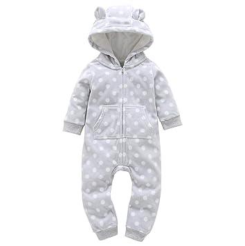 82cdf65bc Amazon.com  Koolee Ear Infant Bodysuits Boys Girls Thicker Grid ...