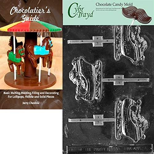 Cybrtrayd 'Sleigh Lolly' Christmas Chocolate Candy Mold with Chocolatier's Guide (Lolly Sleighs Christmas)