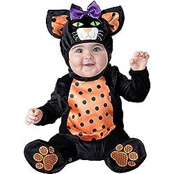 Incharacter Costumes - Disfraz de Gato pequeño Miau, para bebé, Negro/Anaranjado, Large (18-2T)