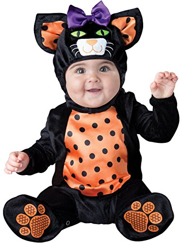 Fun World InCharacter Costumes Baby Mini Meow Cat Costume, Black/Orange, X-Small
