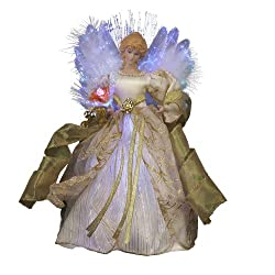 Kurt Adler CUL Fiber Optic LED Angel Christmas Treetop...