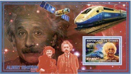 Albert Einstein, E=MC2, Trains, Satellites Mint NH Stamp Guinea GU0603c (Mint Train Stamps)