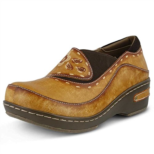 L'Artiste by Spring Step Women's Burbank Mule, Natural, 40 EU/9 M US by L'Artiste by Spring Step