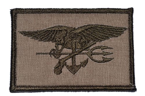 - Seal Trident 2x3 Morale Patch - Coyote Brown