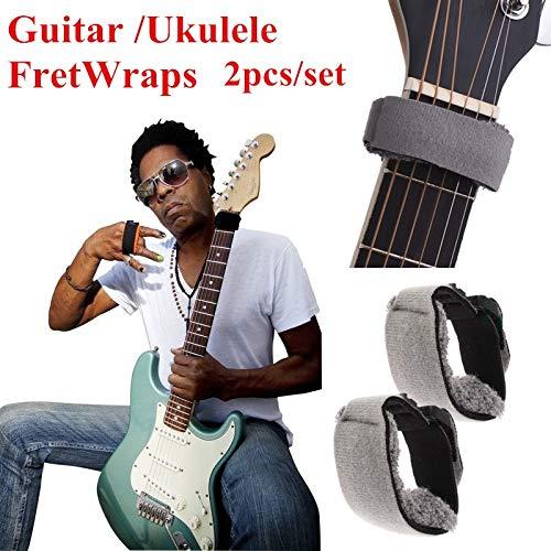2 Stück Gitarrensaitenmuter Einstellbare Spannung Saiten-Dämpfer