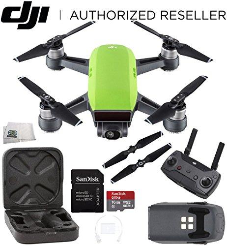 DJI Spark Quadcopter (Meadow Green) + DJI Spark Remote Starter Bundle (Speed Racer Case Carrying)