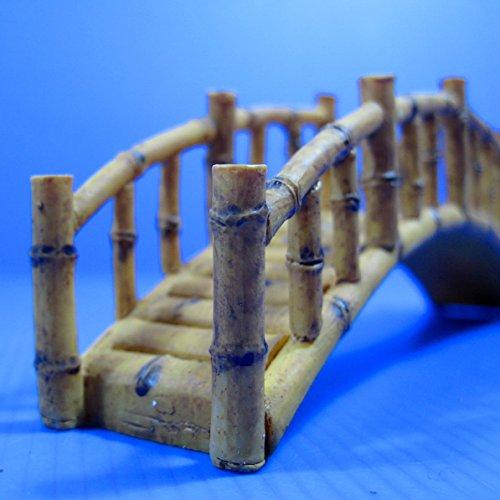 Bamboo Bridge (L) resin Aquarium OrnamentDecor 6.77