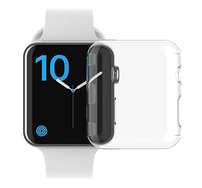 purchase cheap 3639a eccf0 Apple Watch Series 2 & Series 3 case iWatch Screen Protector Soft TPU  All-Around Cover Protective Case 0.3mm HD Clear Ultra-Thin Cover for iWatch  ...