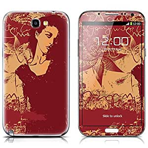 AES - SX-117 Cool Girl Pattern Front and Back Protector Stickers for Samsung Note 2 N7100
