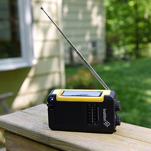 Ivation-Portable-Solar-Hand-Crank-AMFM-Weather-Radio-Compact-Size-Emergency-Camping-Device-Built-in-External-Antenna-Earphone-jack-Never-needs-batteries