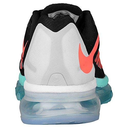 Nike Air Max 2015de la mujer running Shoe Black, Light Aqua, Hot Lava
